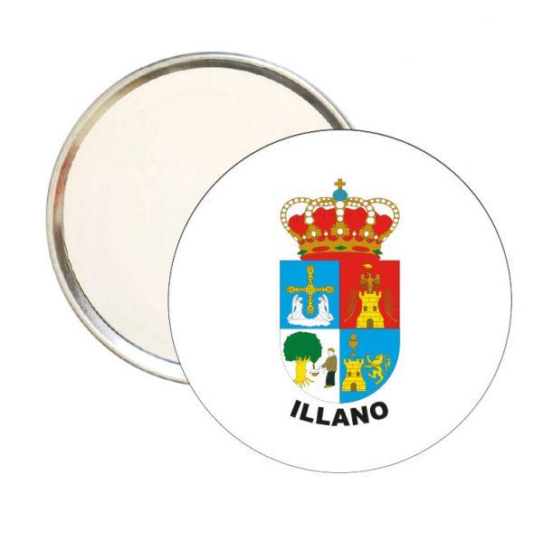 espejo redondo escudo heraldico illano
