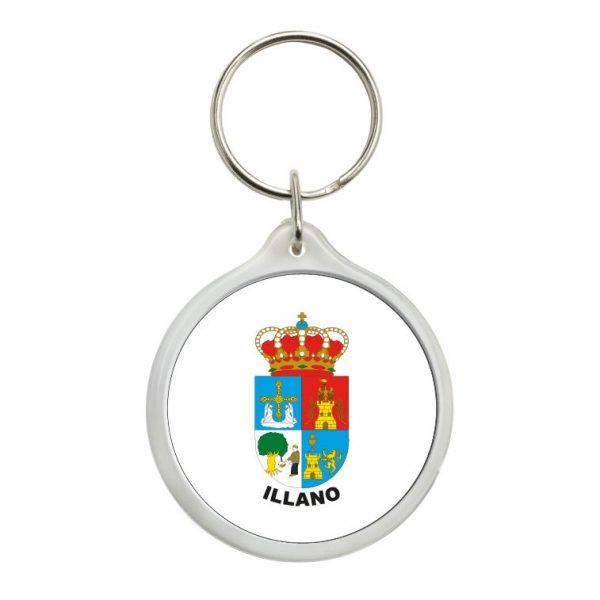 llavero redondo escudo heraldico illano