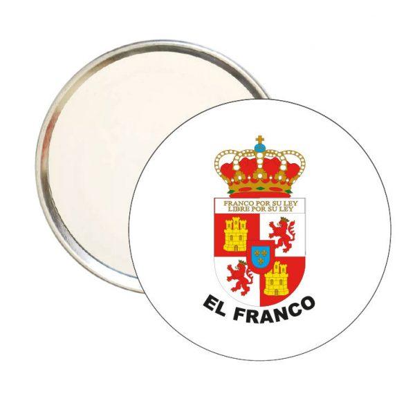 espejo redondo escudo heraldico el franco