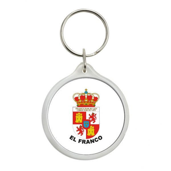 524 llavero redondo escudo heraldico el franco