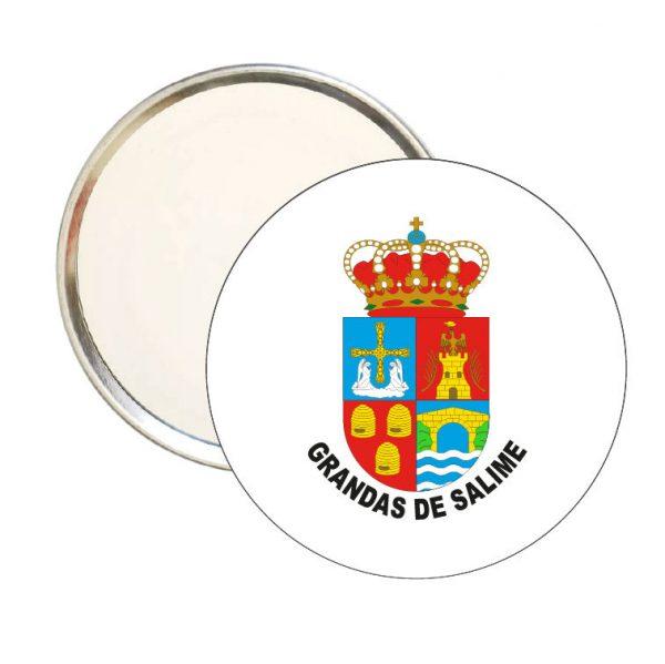 espejo redondo escudo heraldico grandas de salime