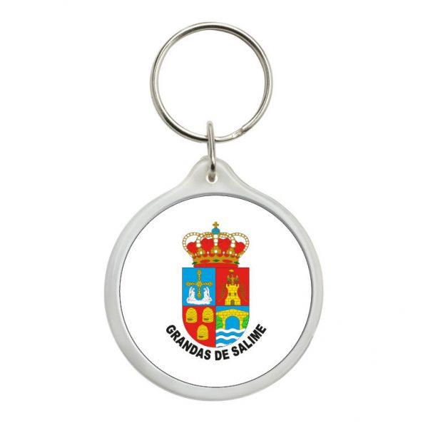 llavero redondo escudo heraldico grandas de salime