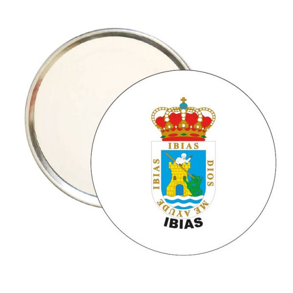 espejo redondo escudo heraldico ibias