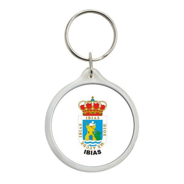 llavero redondo escudo heraldico ibias