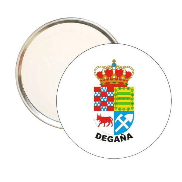 espejo redondo escudo heraldico degana