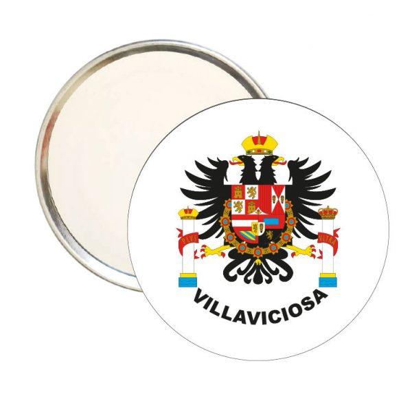 espejo redondo escudo heraldico villaviciosa