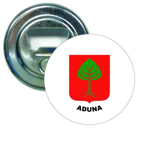 abridor redondo escudo heraldico aduna