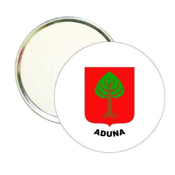 espejo redondo escudo heraldico aduna