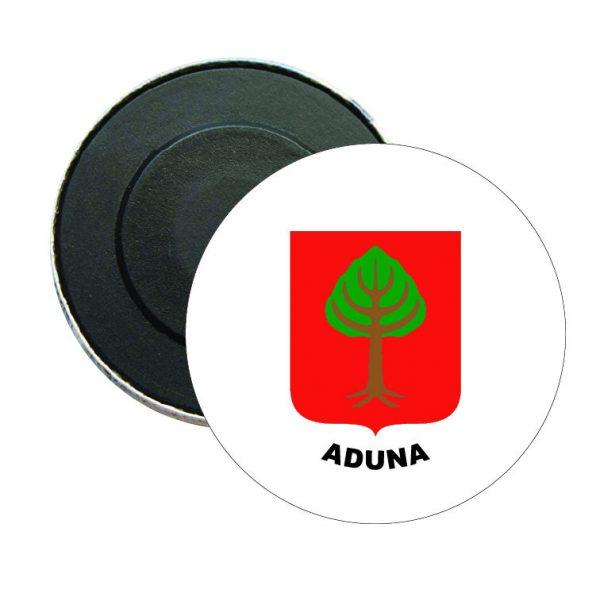 iman redondo escudo heraldico aduna