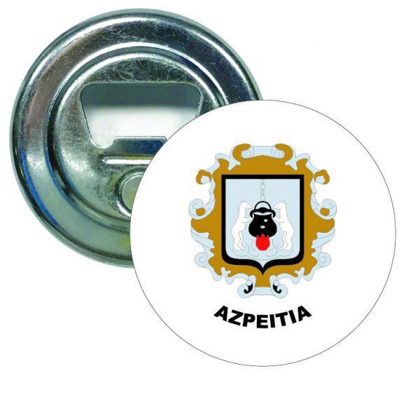 abridor redondo escudo heraldico azpeitia