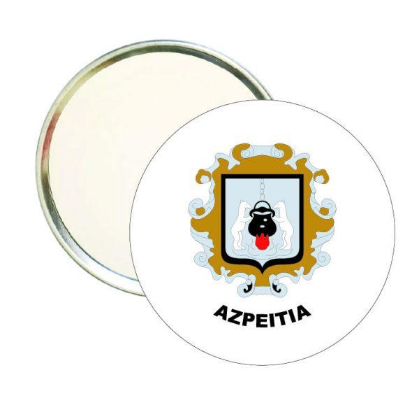 espejo redondo escudo heraldico azpeitia
