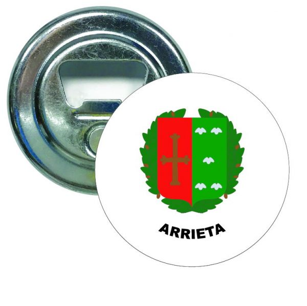 abridor redondo escudo heraldico arrieta