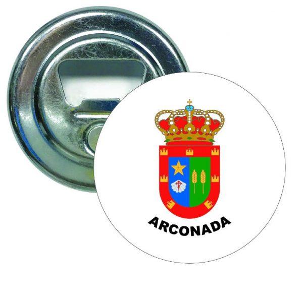 abridor redondo escudo heraldico arconada