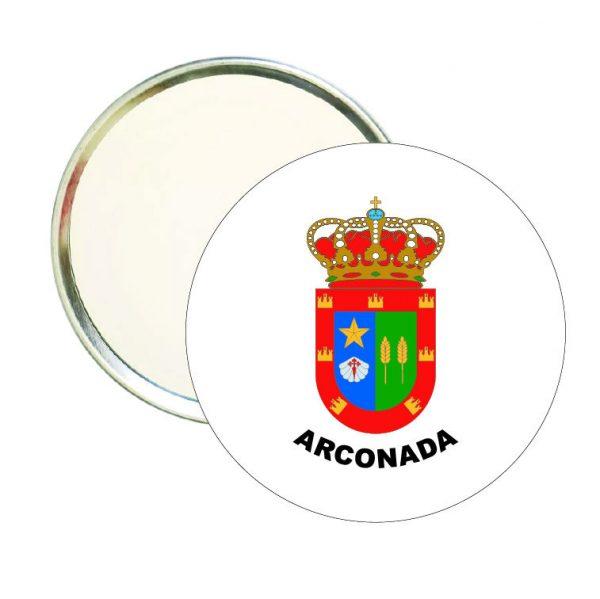 espejo redondo escudo heraldico arconada