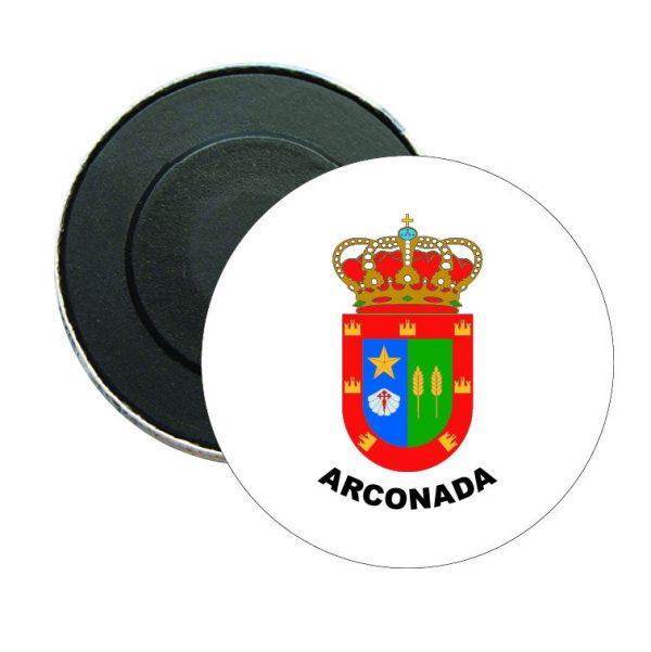 iman redondo escudo heraldico arconada