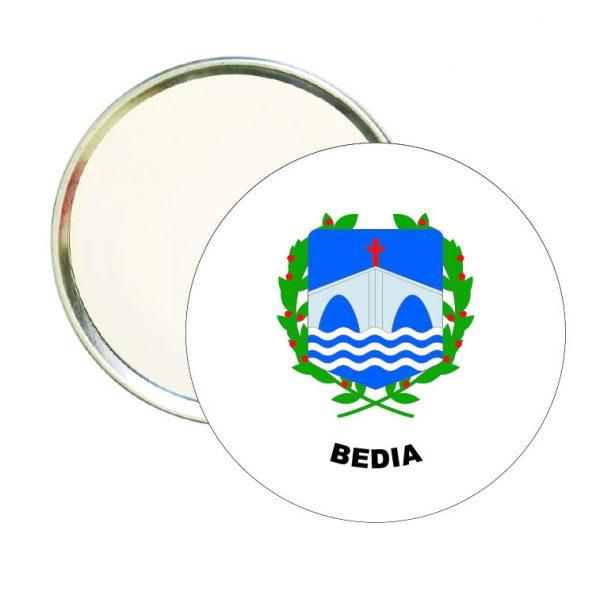 espejo redondo escudo heraldico bedia