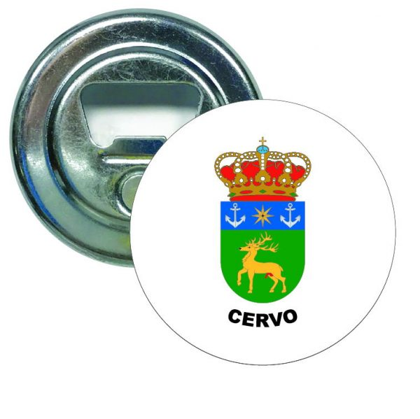 abridor redondo escudo heraldico cervo