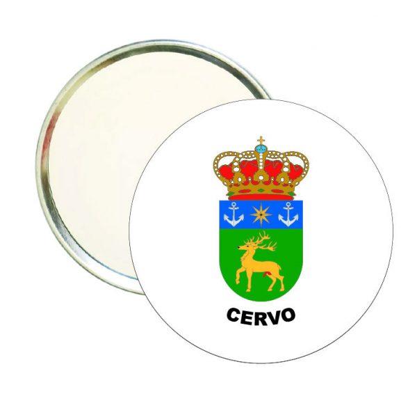 espejo redondo escudo heraldico cervo