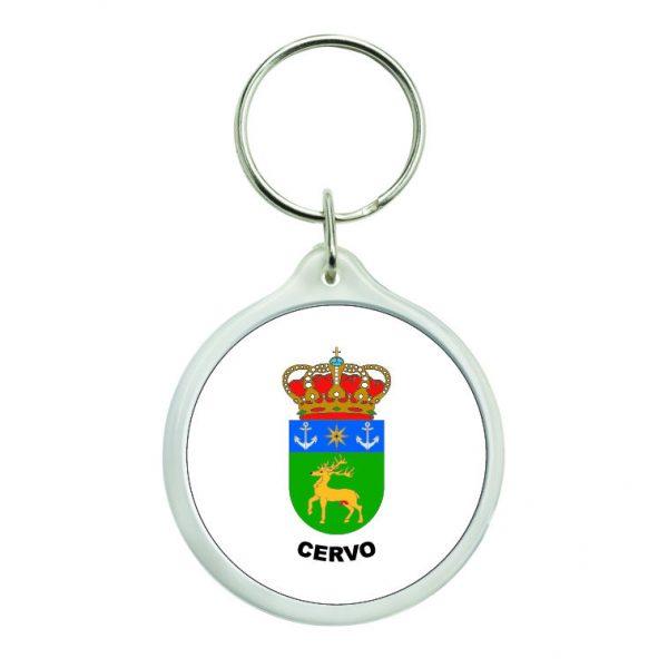 llavero redondo escudo heraldico cervo