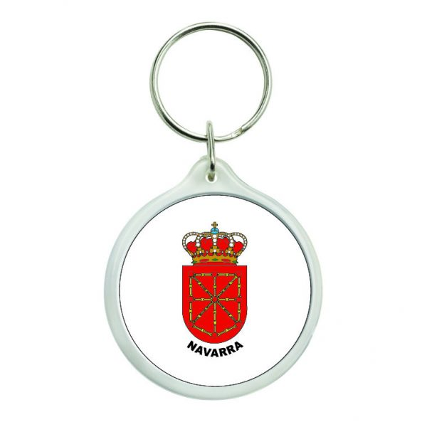 llavero redondo escudo heraldico navarra