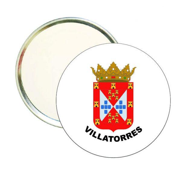 espejo redondo escudo heraldico villatorres