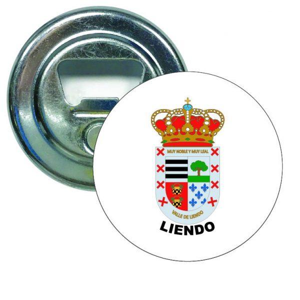 abridor redondo escudo heraldico liendo