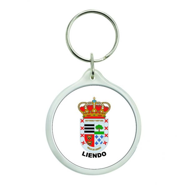 llavero redondo escudo heraldico liendo