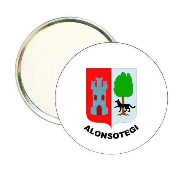 espejo redondo escudo heraldico alonsotegi