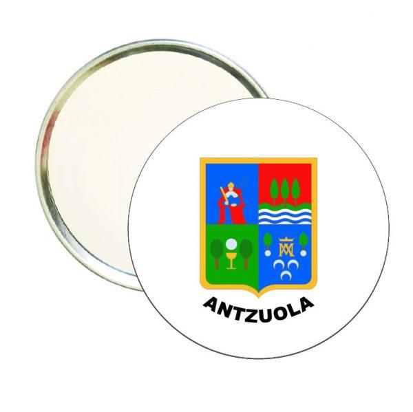 espejo redondo escudo heraldico antzuola