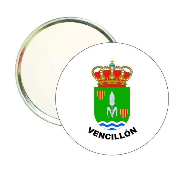 espejo redondo escudo heraldico vencillon