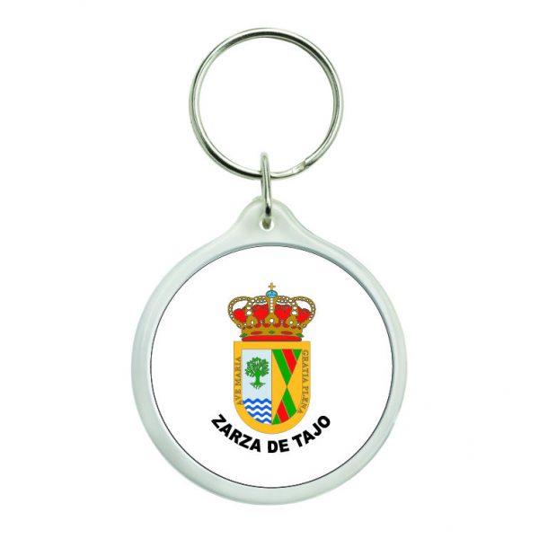 llavero redondo escudo heraldico zarza de tajo