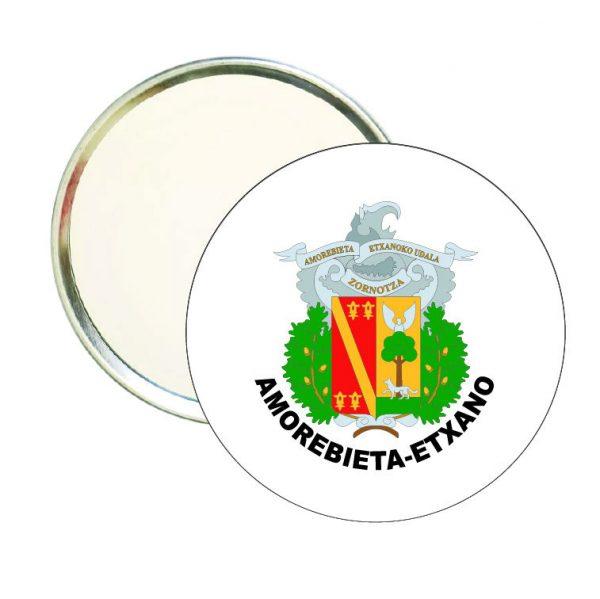 espejo redondo escudo heraldico amorebieta etxano