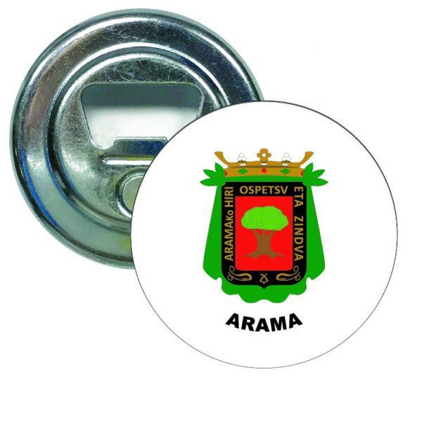 abridor redondo escudo heraldico arama