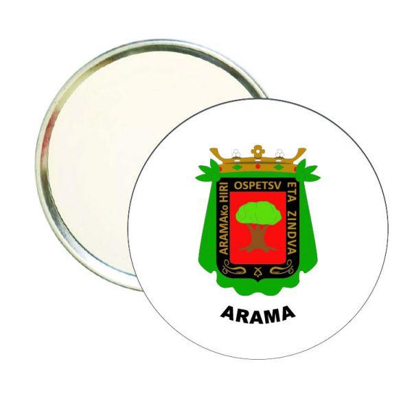 espejo redondo escudo heraldico arama