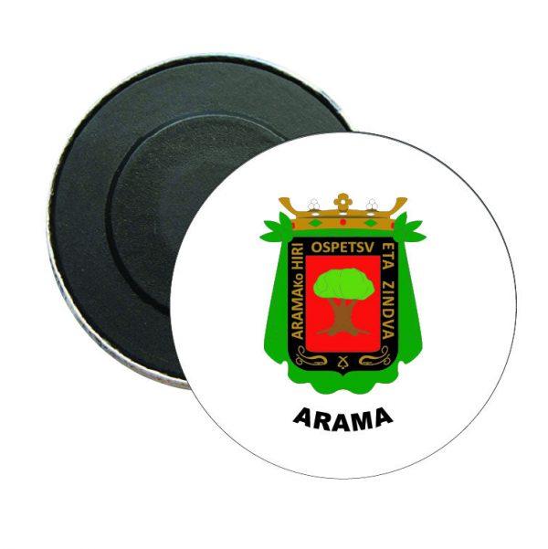 iman redondo escudo heraldico arama