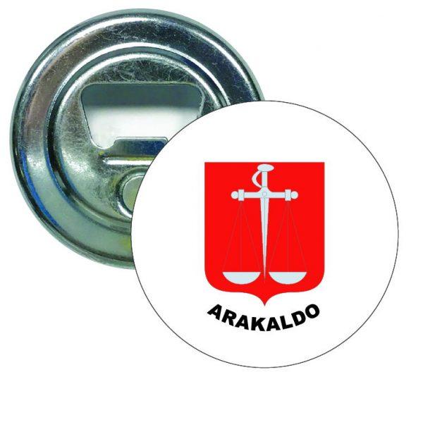 abridor redondo escudo heraldico arakaldo