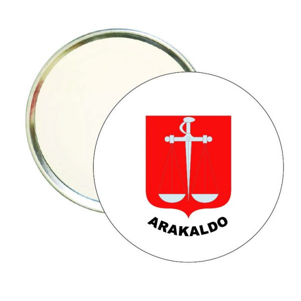 espejo redondo escudo heraldico arakaldo