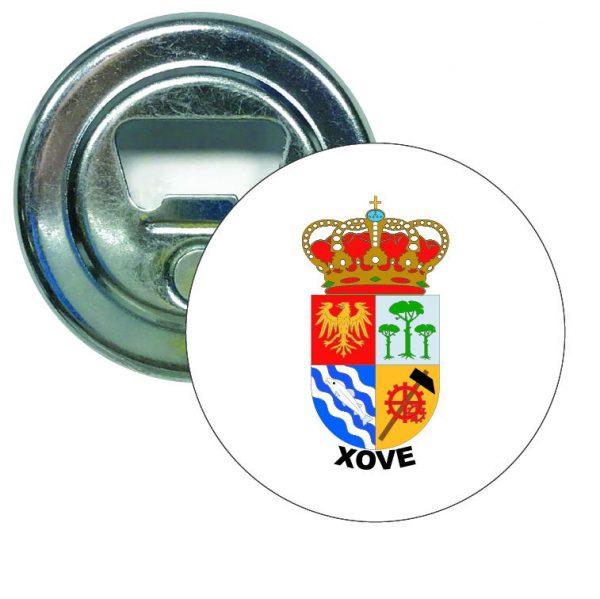 abridor redondo escudo heraldico xove