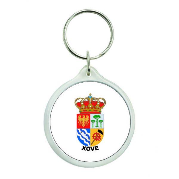llavero redondo escudo heraldico xove