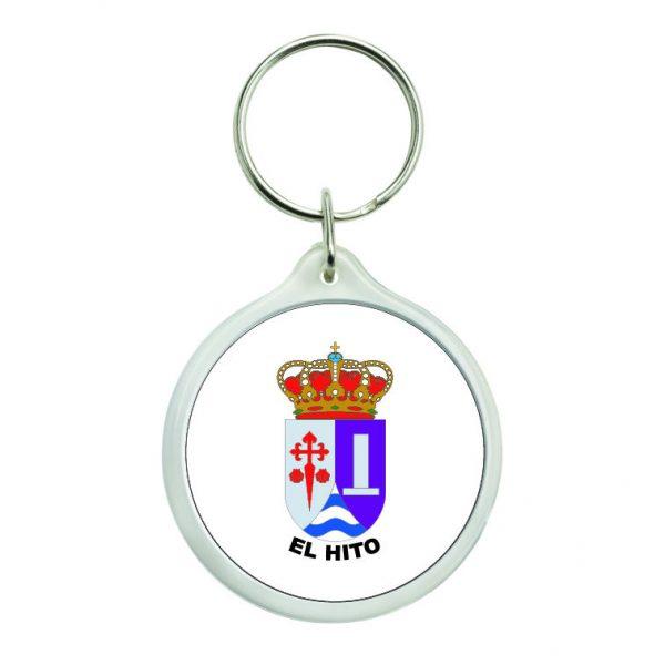 llavero redondo escudo heraldico el hito