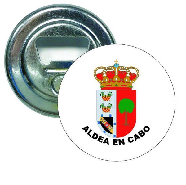 abridor redondo escudo heraldico aldea en cabo