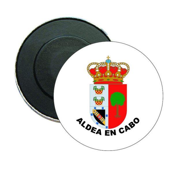 iman redondo escudo heraldico aldea en cabo