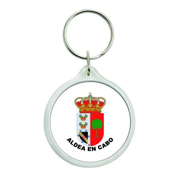 llavero redondo escudo heraldico aldea en cabo