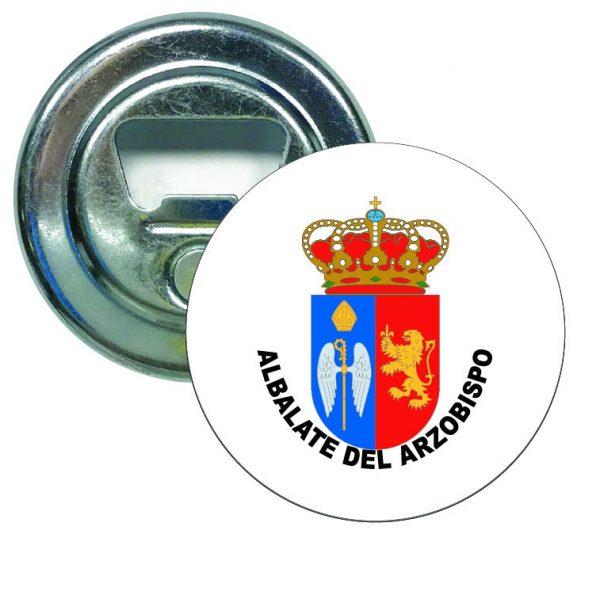 abridor redondo escudo heraldico albalate del arzobispo