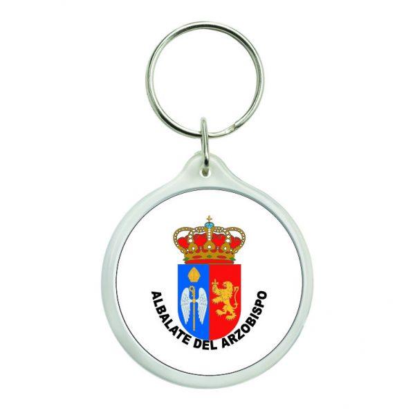 llavero redondo escudo heraldico albalate del arzobispo