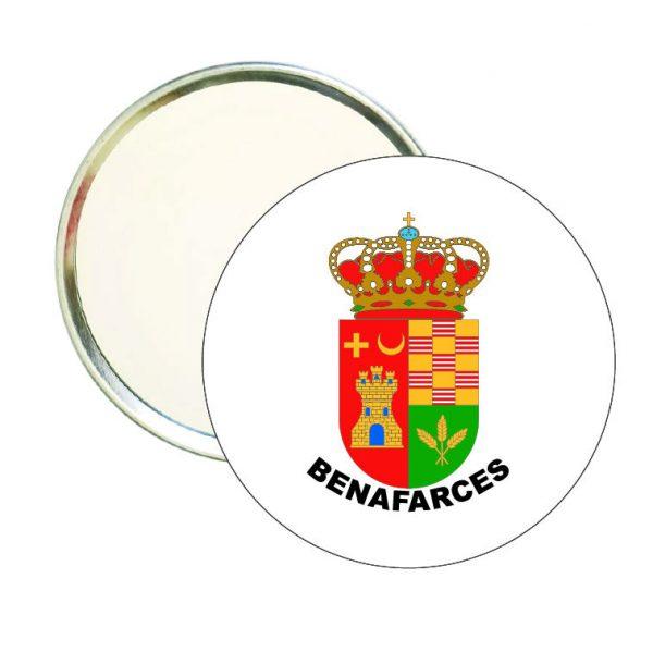 espejo redondo escudo heraldico benafarces