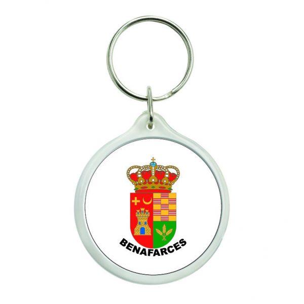 llavero redondo escudo heraldico benafarces