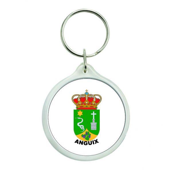 llavero redondo escudo heraldico anguix