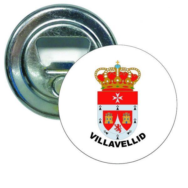 abridor redondo escudo heraldico villavellid