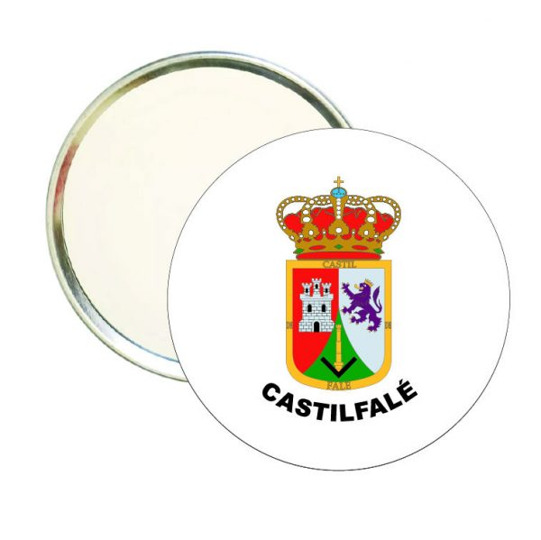 espejo redondo escudo heraldico castilfale